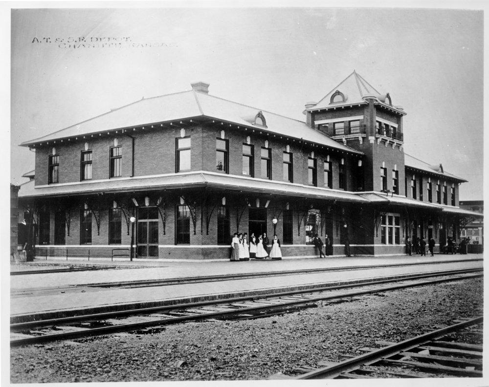 Atchison, Topeka and Santa Fe Railway Company depot, Chanute, Kansas - 2