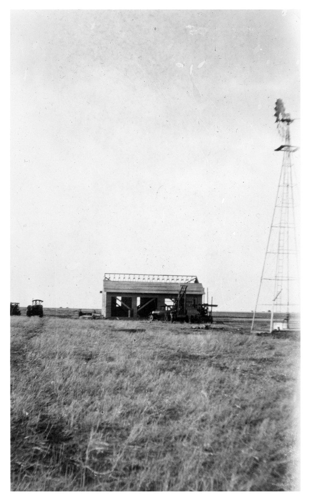 Building a garage on the Frank Cersovsky farm, Thomas County, Kansas - 2