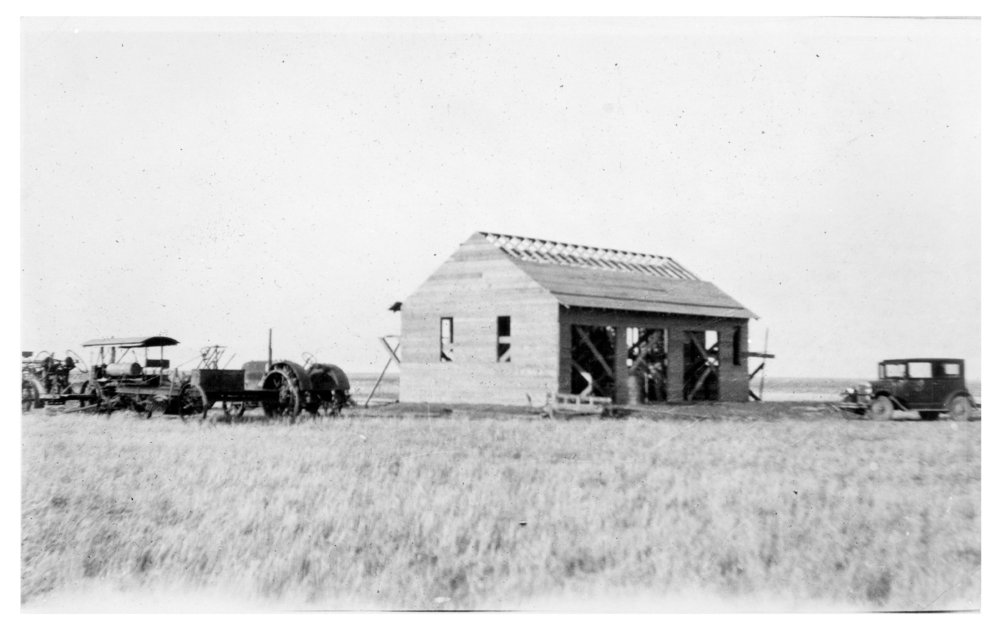 Building a garage on the Frank Cersovsky farm, Thomas County, Kansas - 4