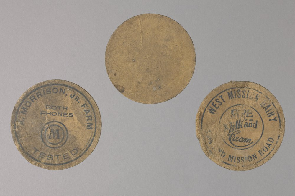Milk Bottle Caps from the Shawnee Indian Mission, 14JO362 - 1