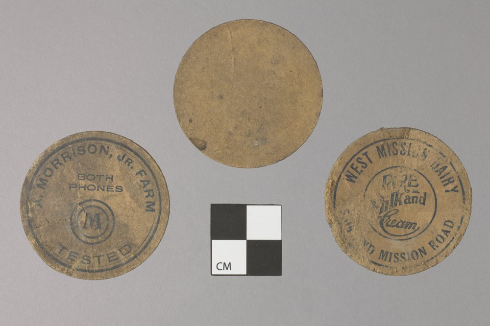 Milk Bottle Caps from the Shawnee Indian Mission, 14JO362 - 2