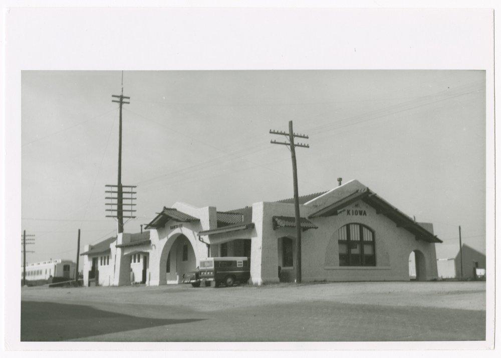 Atchison, Topeka and Santa Fe Railway Company depot, Kiowa, Kansas - 1