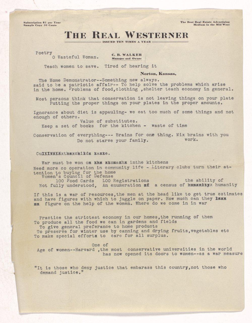 Ida M. Walker papers - 2