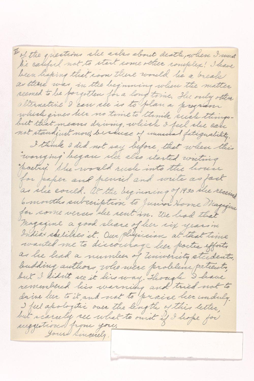 Dr. Karl Menninger Ladies Home Journal Letters 142-159 - 11