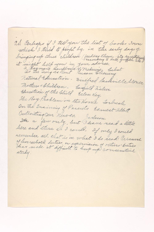 Dr. Karl Menninger Ladies Home Journal Letters 142-159 - 12