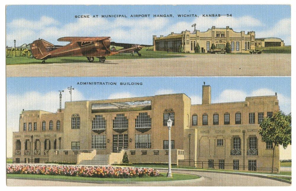 Municipal Airport hangar and administration building in Wichita, Kansas - 1