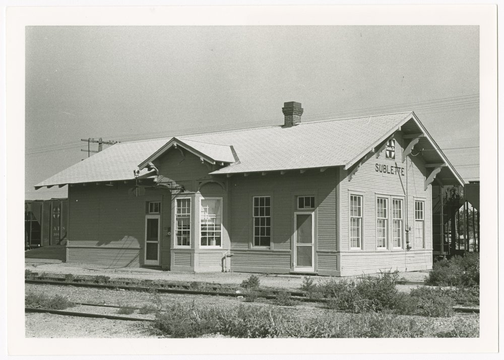 Atchison, Topeka and Santa Fe Railway Company depot, Sublette, Kansas - 1