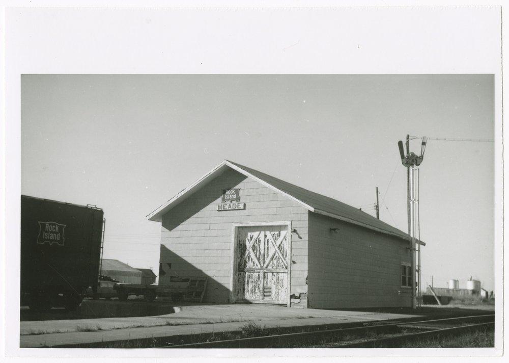 Chicago, Rock Island & Pacific Railroad depot, Meade, Kansas - 1