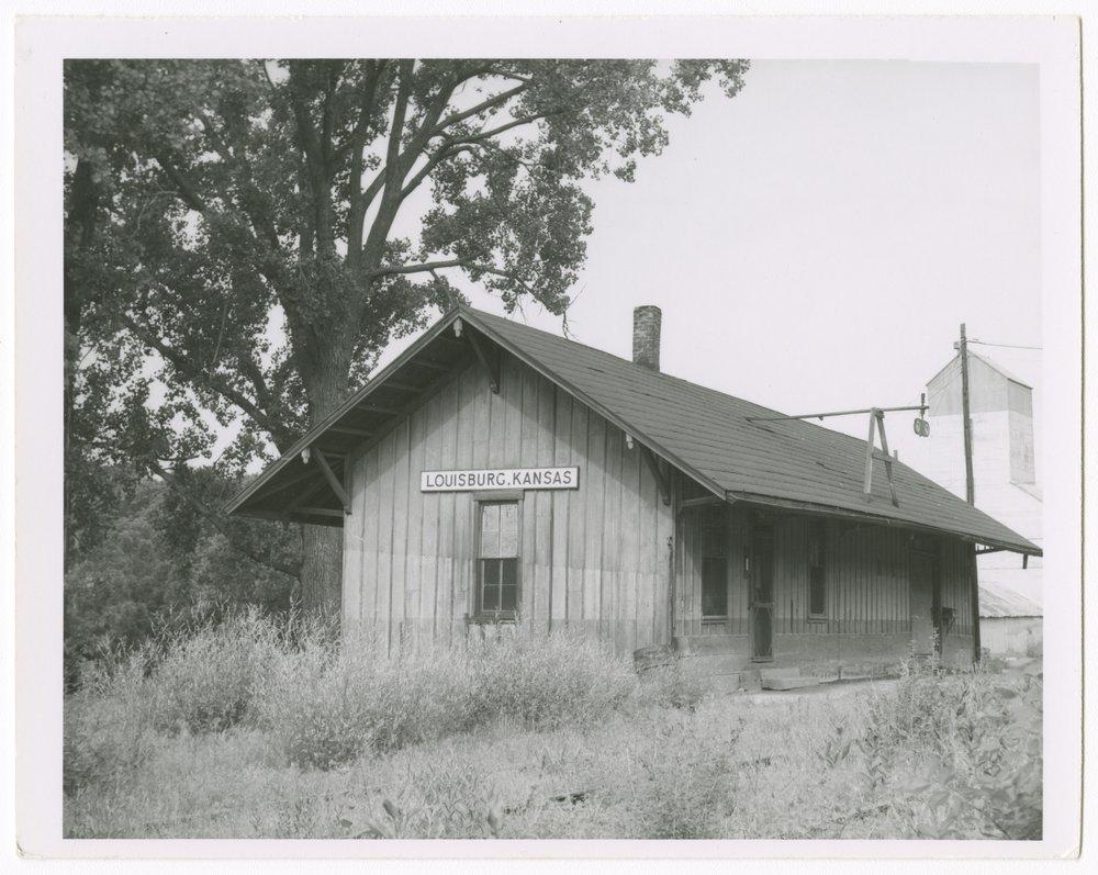Missouri-Kansas-Texas Railroad depot, Louisburg, Kansas - 1