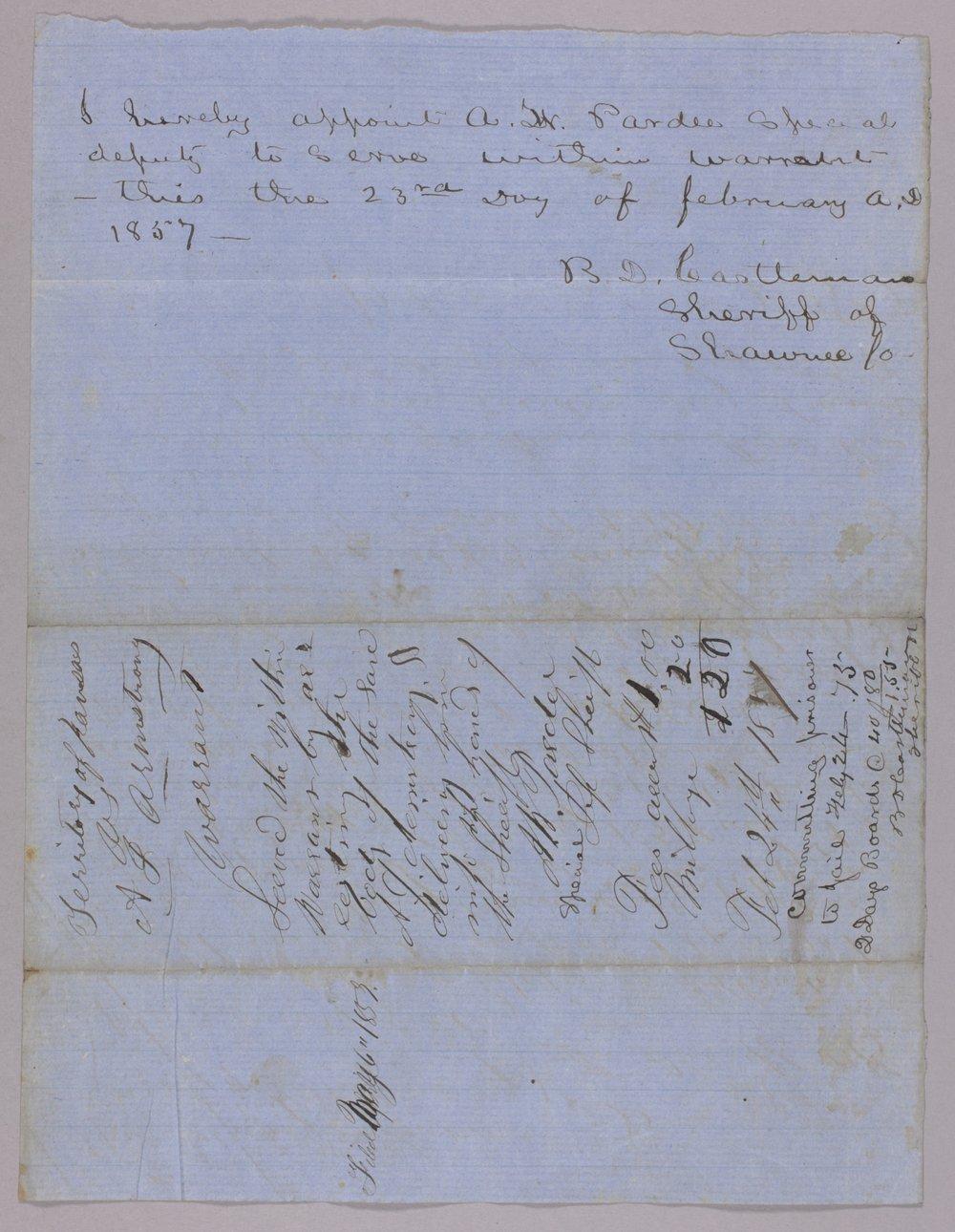 Kansas Territory versus A. J. Armstrong for assault on Orlando Moffitt - 2