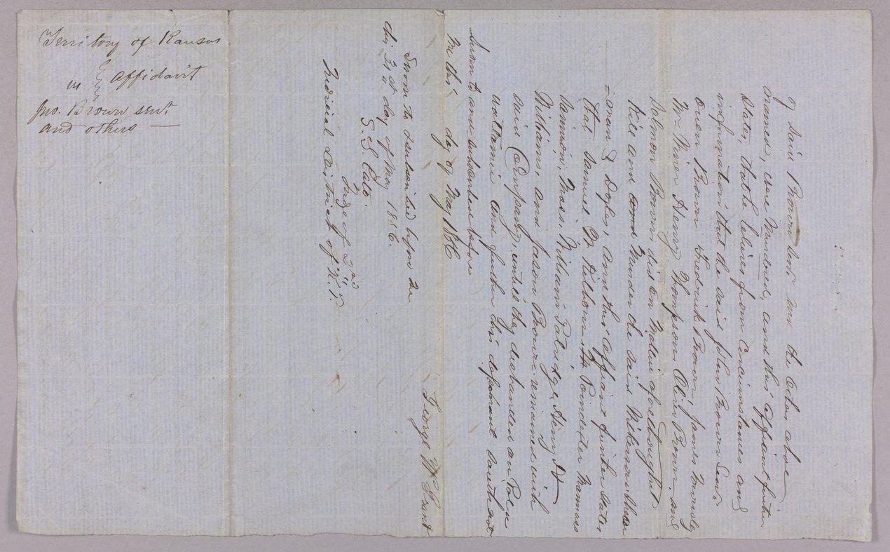 Kansas Territory versus John Brown Sr., Frederick Brown, Oliver Brown, Owen Brown, and Solomon Brown for murder - 10