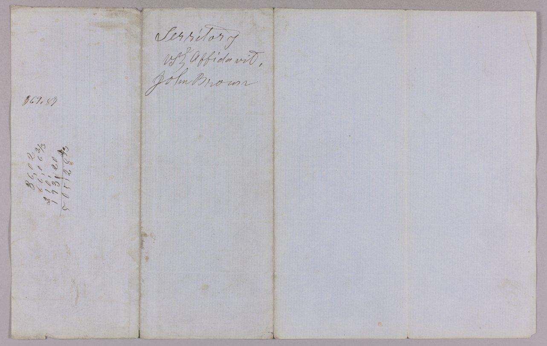 Kansas Territory versus John Brown Sr., Frederick Brown, Oliver Brown, Owen Brown, and Solomon Brown for murder - 12