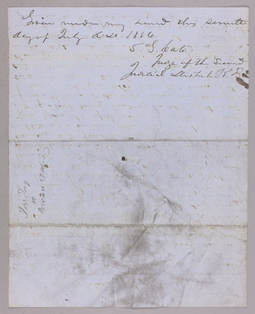 Kansas Territory versus John Brown and others for horse stealing - 2