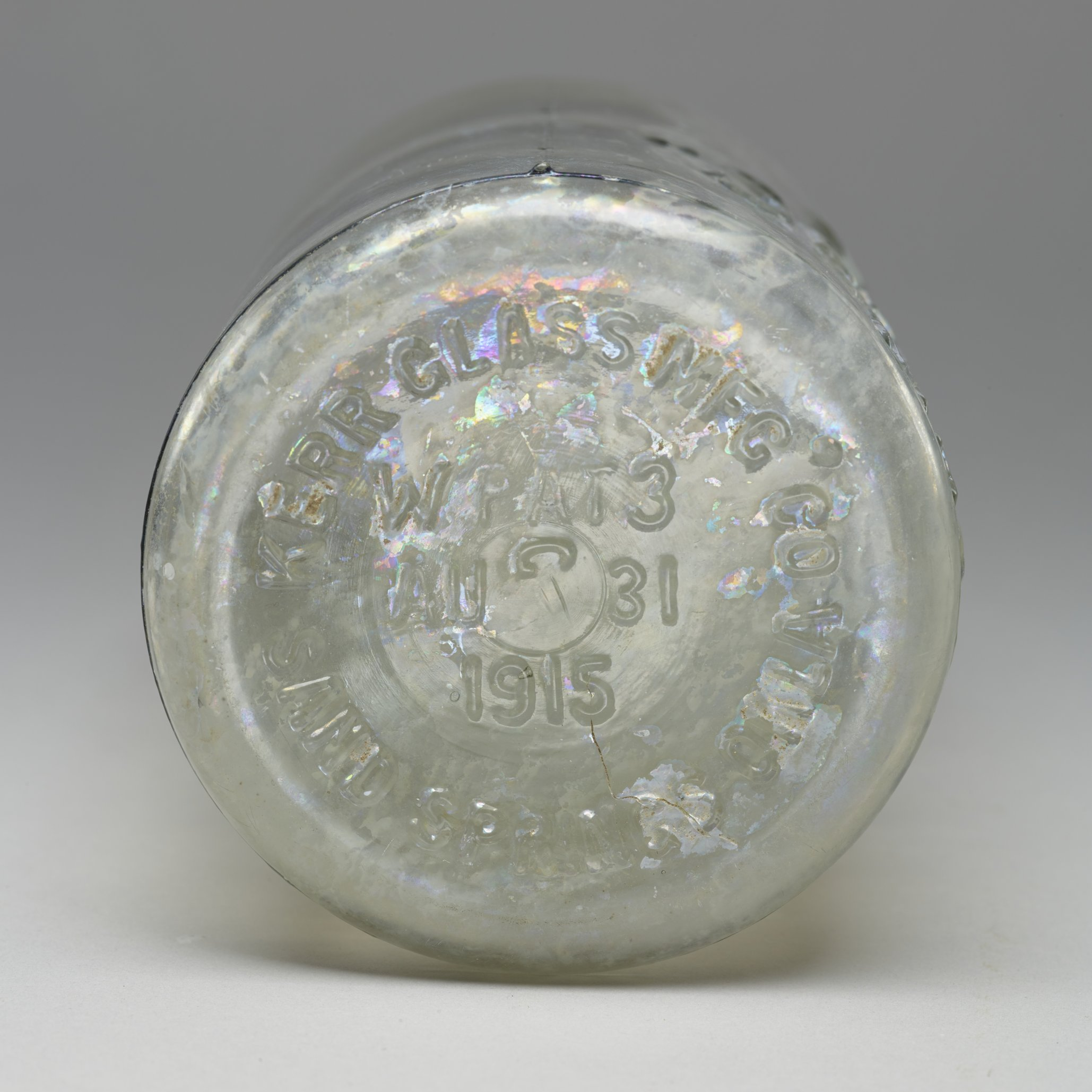 Kerr Canning Jar from the Thomas Johnson/Henry Williams Dugout Site, 14GH102 - 2
