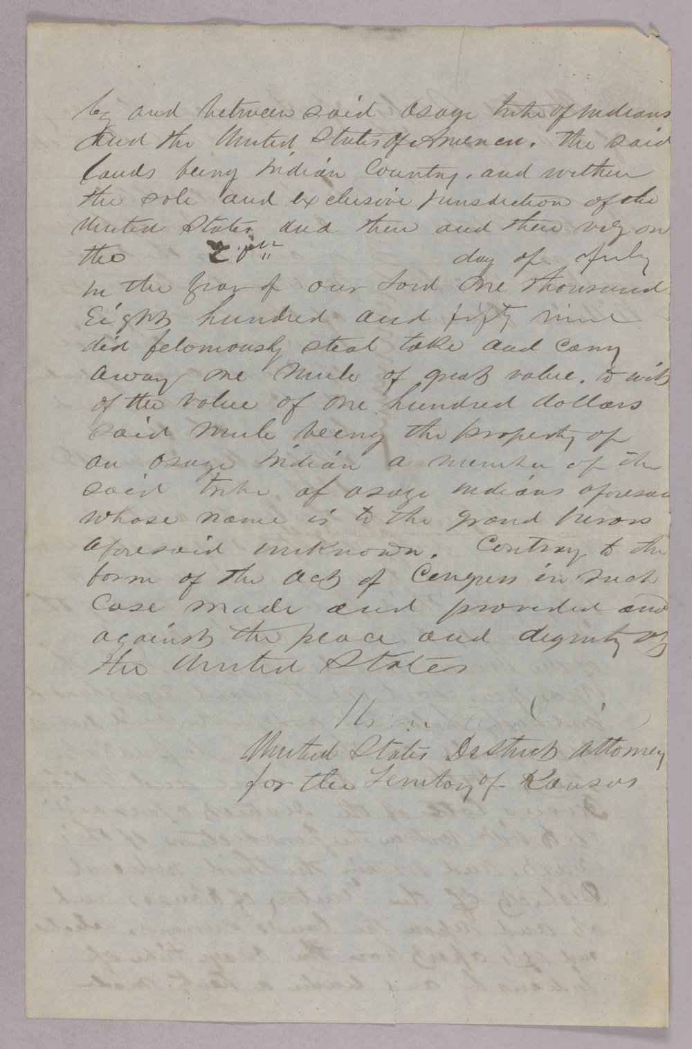 United States versus William Donahue and William Owens for taking Osage property - 2