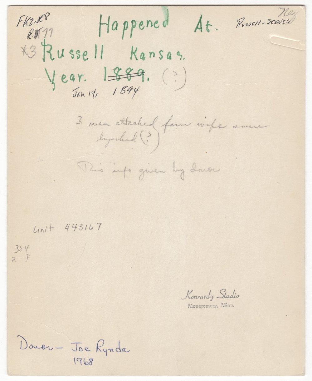 Lynching of J. G. Burton, John Gay, and William Gay in Russell County, Kansas - 2