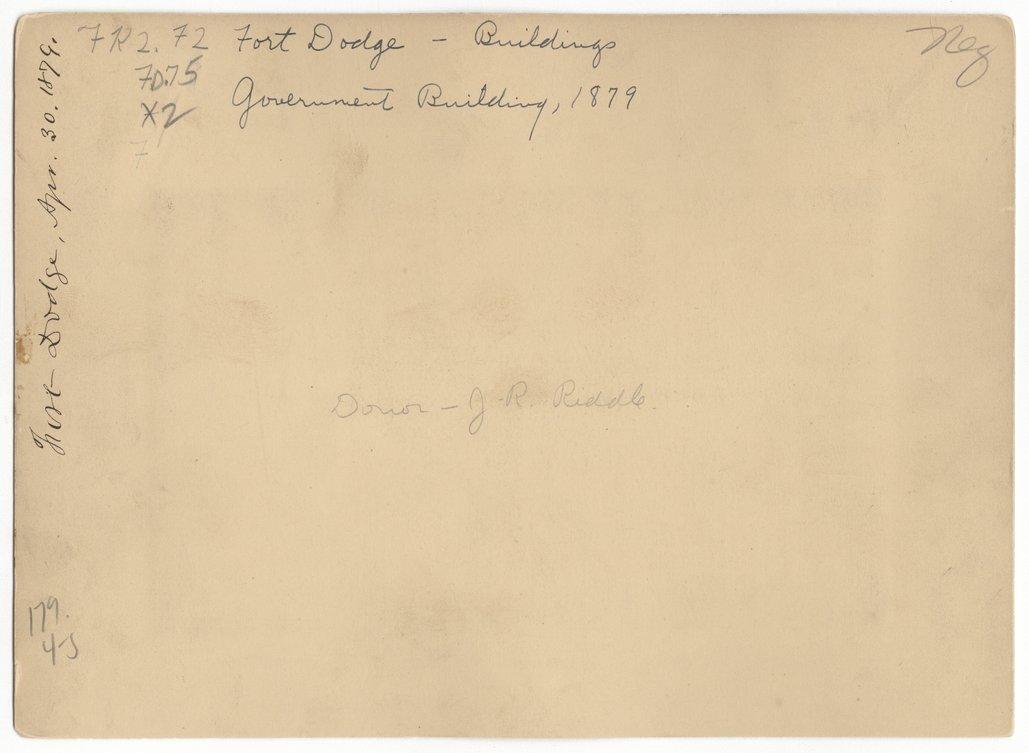 Commanding Officers' Quarters, Fort Dodge, Kansas - 2