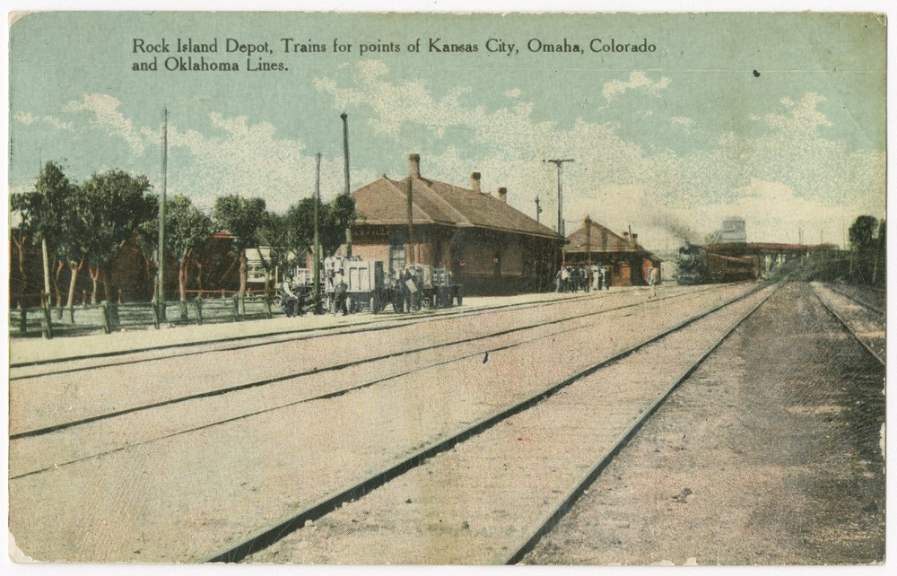 Chicago, Rock Island & Pacific Railroad depot, Belleville, Kansas - 1