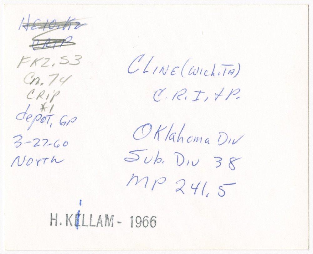Chicago, Rock Island & Pacific Railroad depot, Cline, Kansas - 2