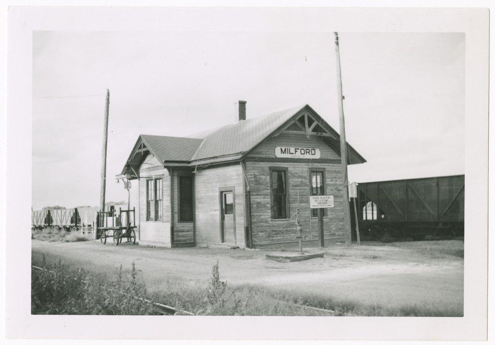 Union Pacific Railroad Company depot, Milford, Kansas - 1