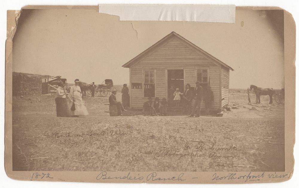 Bender family house, Labette County, Kansas - 1