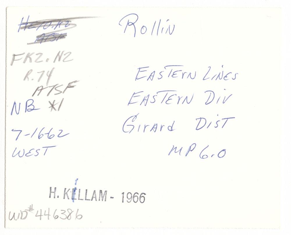 Atchison, Topeka and Santa Fe Railroad Company crossing, Rollin, Kansas - 2