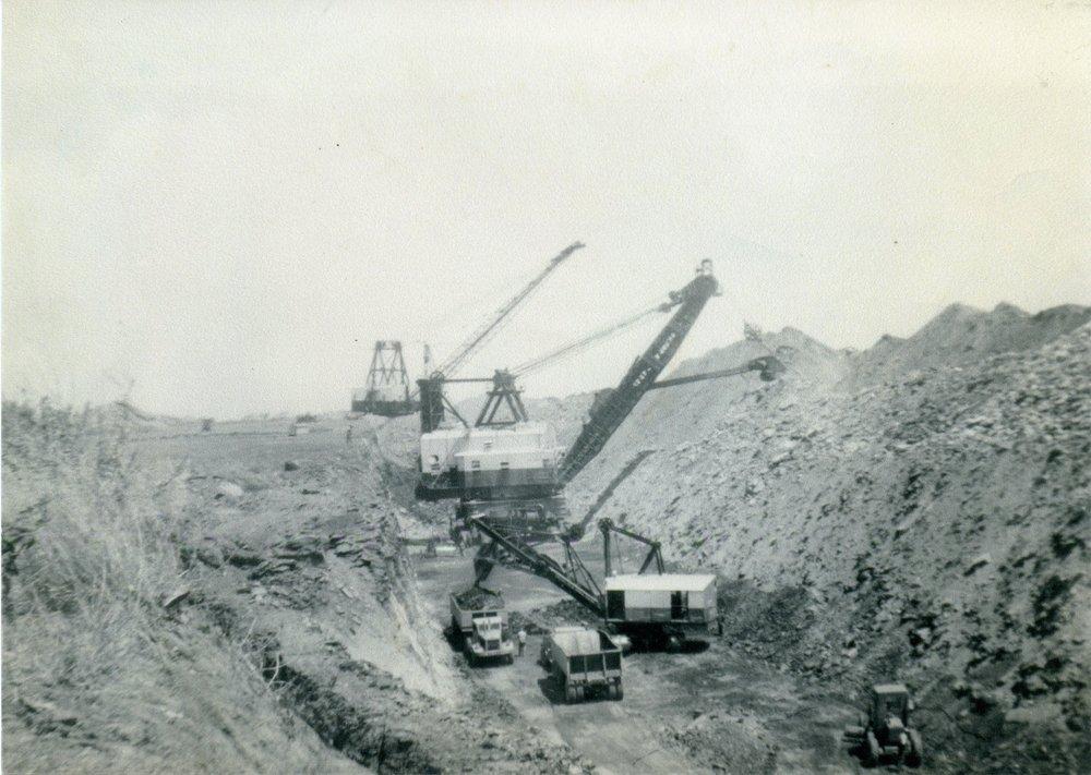 Arcadia mining camp, Crawford County, Kansas - Stripping Operations