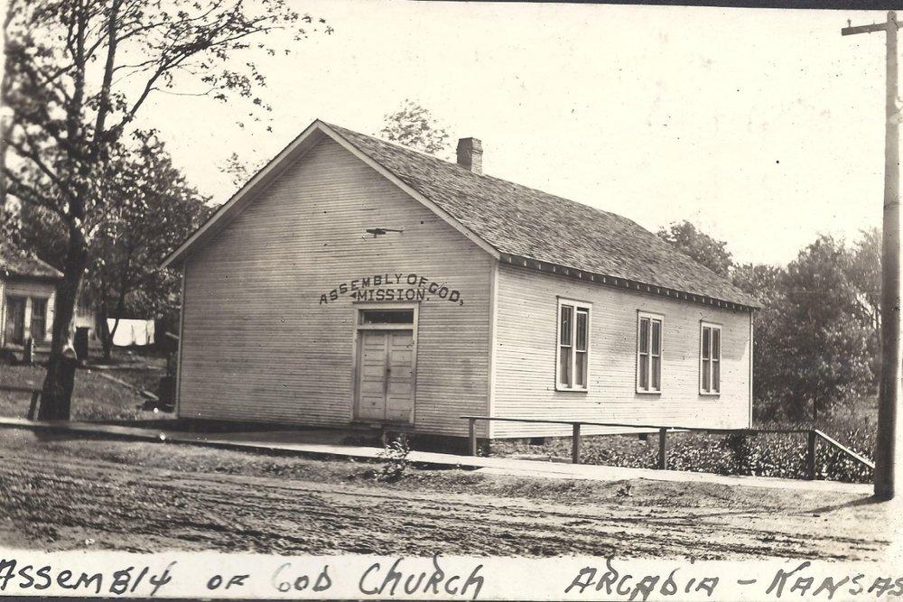 Arcadia mining camp, Crawford County, Kansas - Assembly of God Church, Arcadia, KS