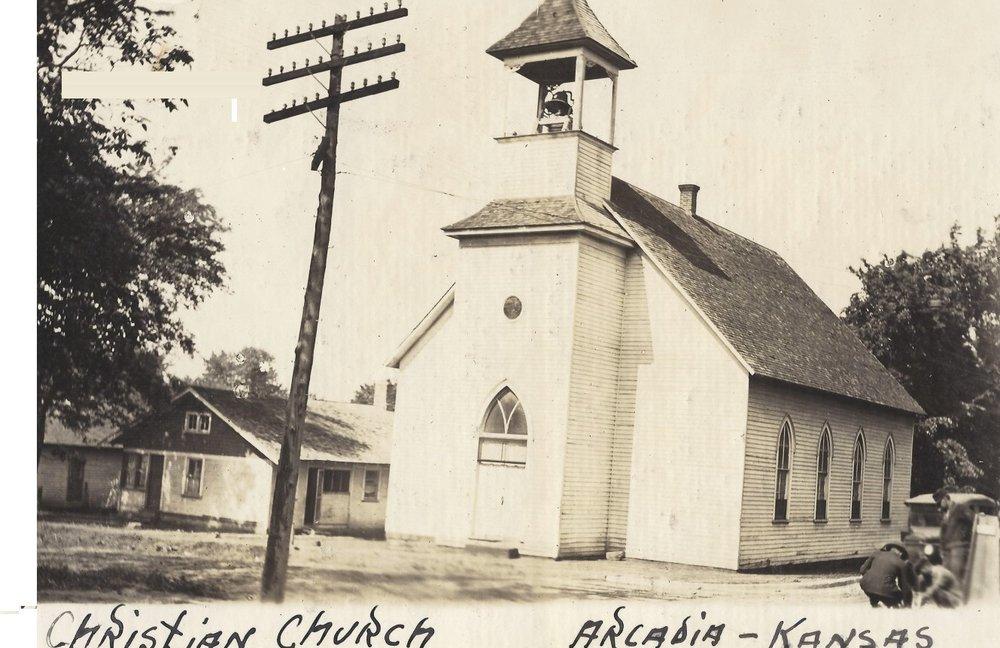 Arcadia mining camp, Crawford County, Kansas - Christian Church, Arcadia, KS (1)