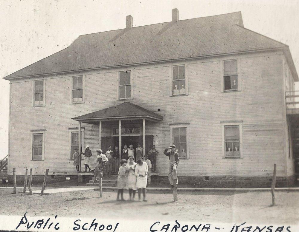 Carona mining camp, Cherokee County, Kansas - Public School, Carona, KS