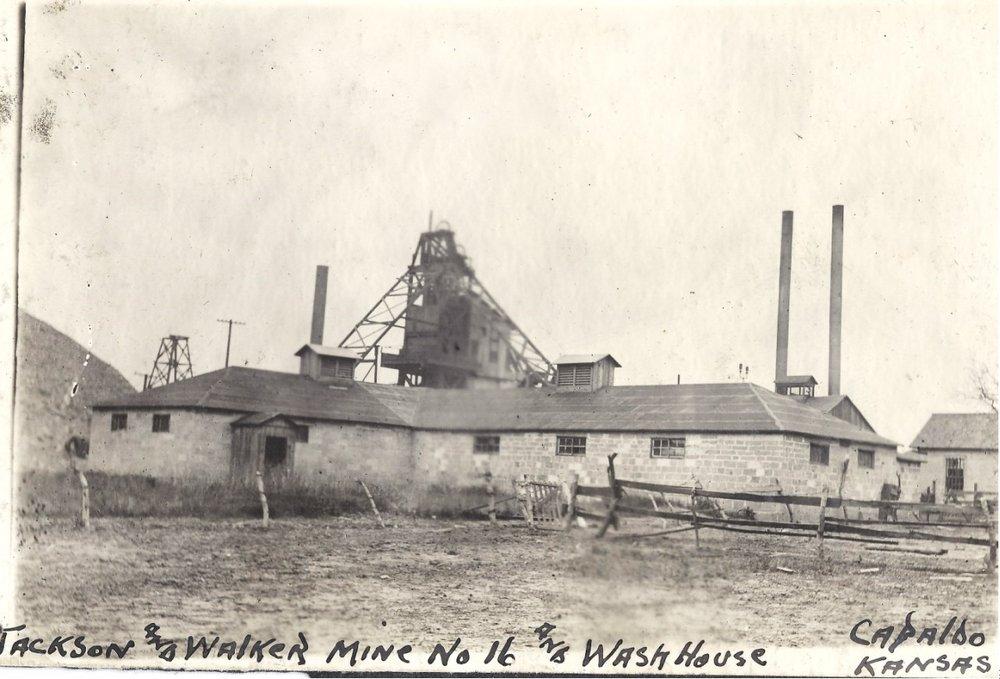 Capaldo mining camp, Crawford County, Kansas - J and W No. 16 Wash House, Capaldo, KS