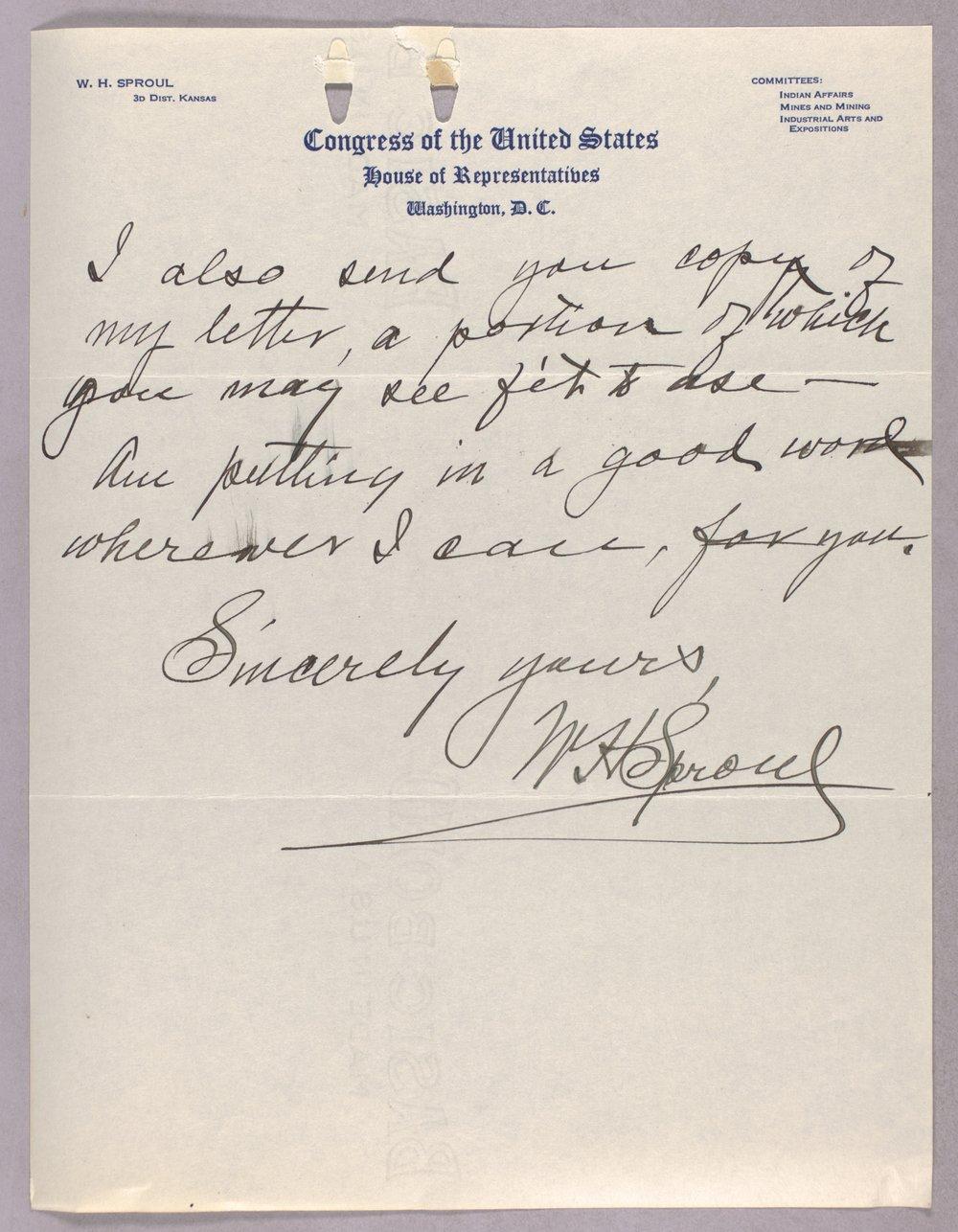 Governor Ben Paulen campaign correspondence - 7