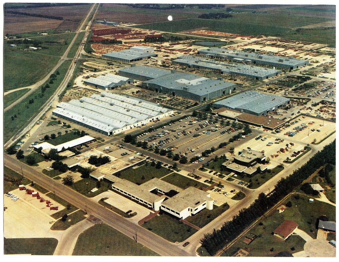 Aeriel view of Hesston Corporation, Hesston, Kansas - front