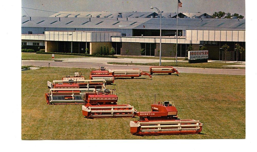 Hesston's Hydro Static Model 600 windrowers, Hesston, Kansas