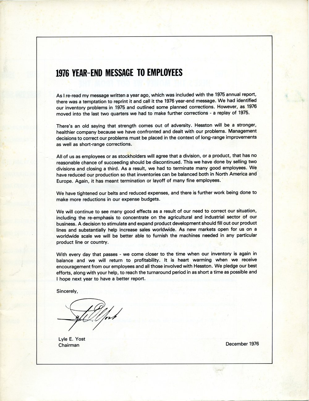 Employee message - cover