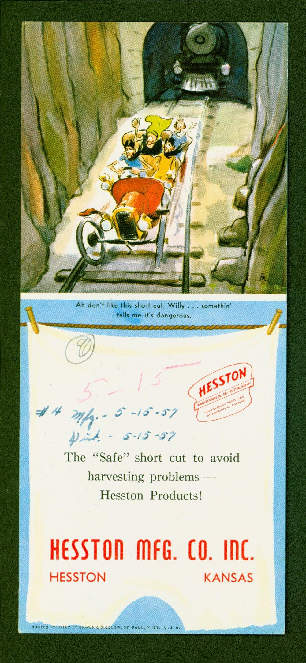 Hesston Manufacturing Company cartoon