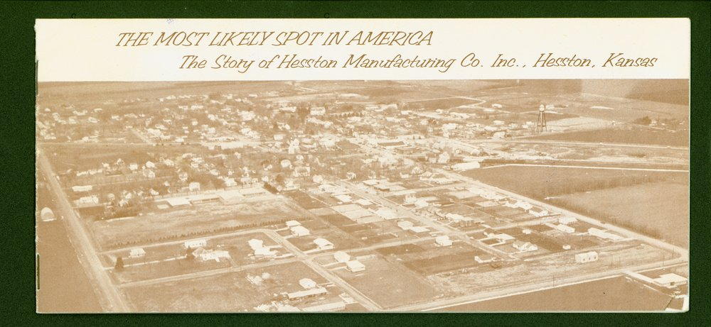 Hesston Manufacturing Company booklet - front