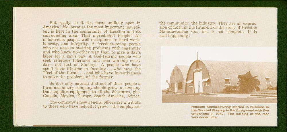 Hesston Manufacturing Company booklet - p2