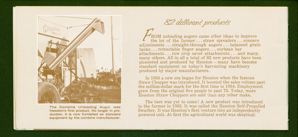 Hesston Manufacturing Company booklet - p4