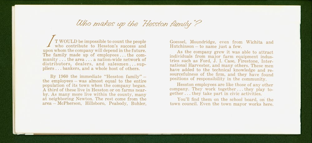 Hesston Manufacturing Company booklet - p6