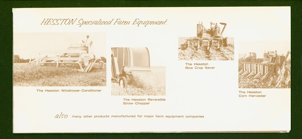 Hesston Manufacturing Company booklet - p9