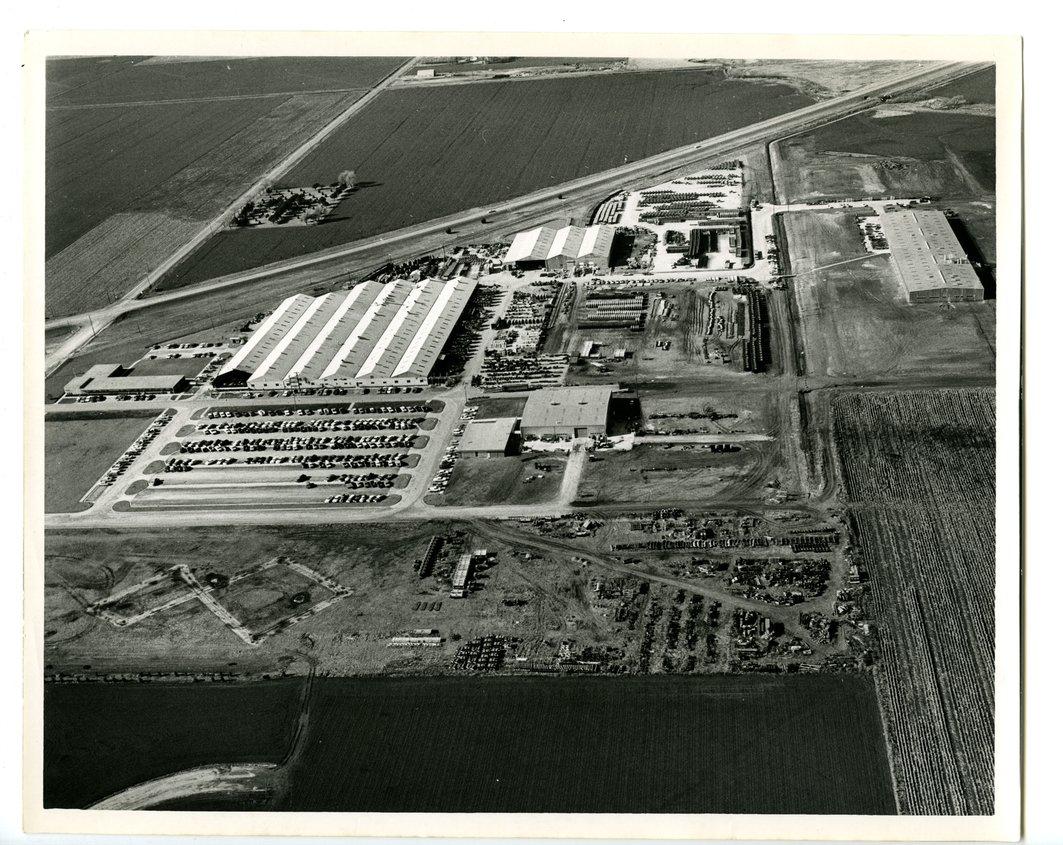Aerial view of Hesston Corporation, Hesston, Kansas - front