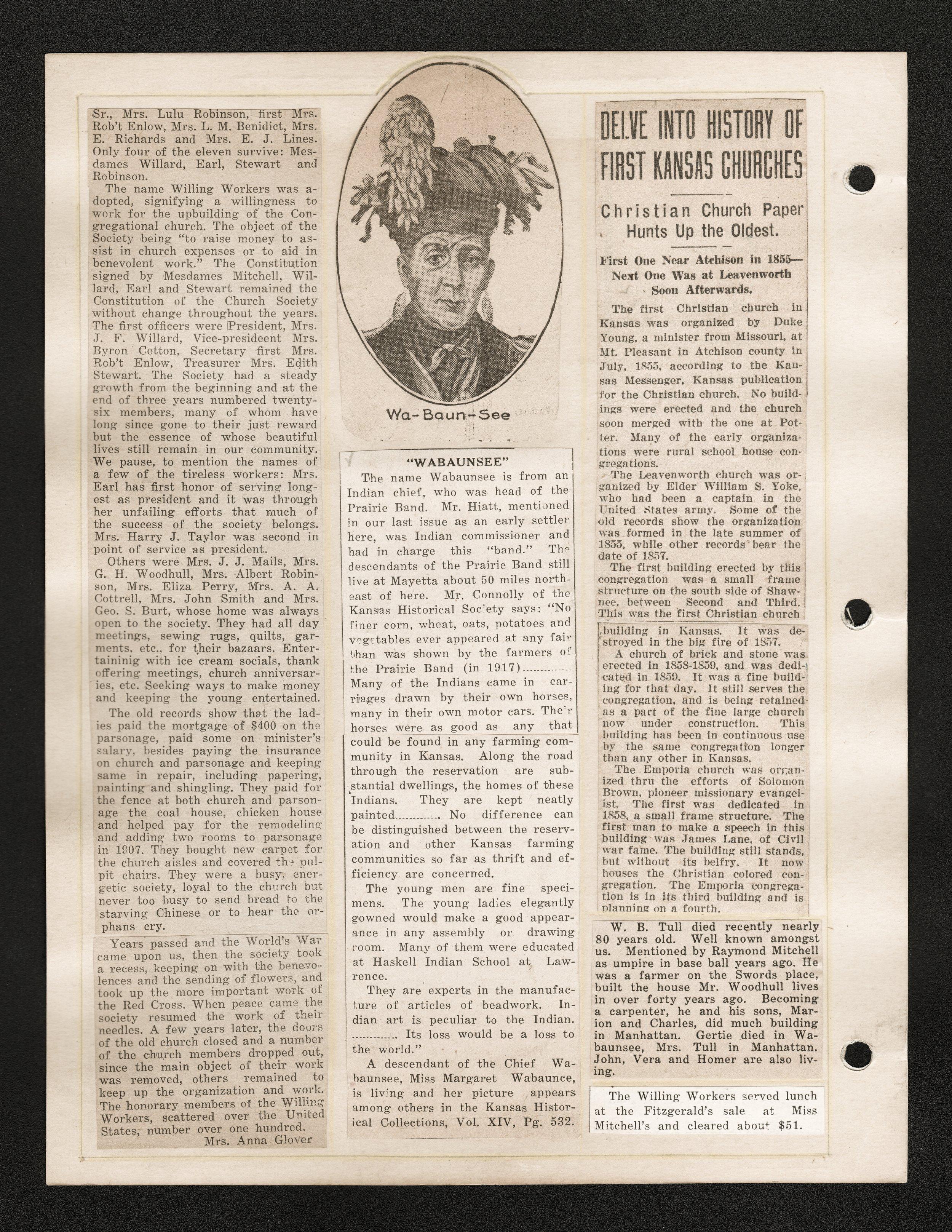 Maude Mitchell scrapbook - Newspaper clippings:  March 1931