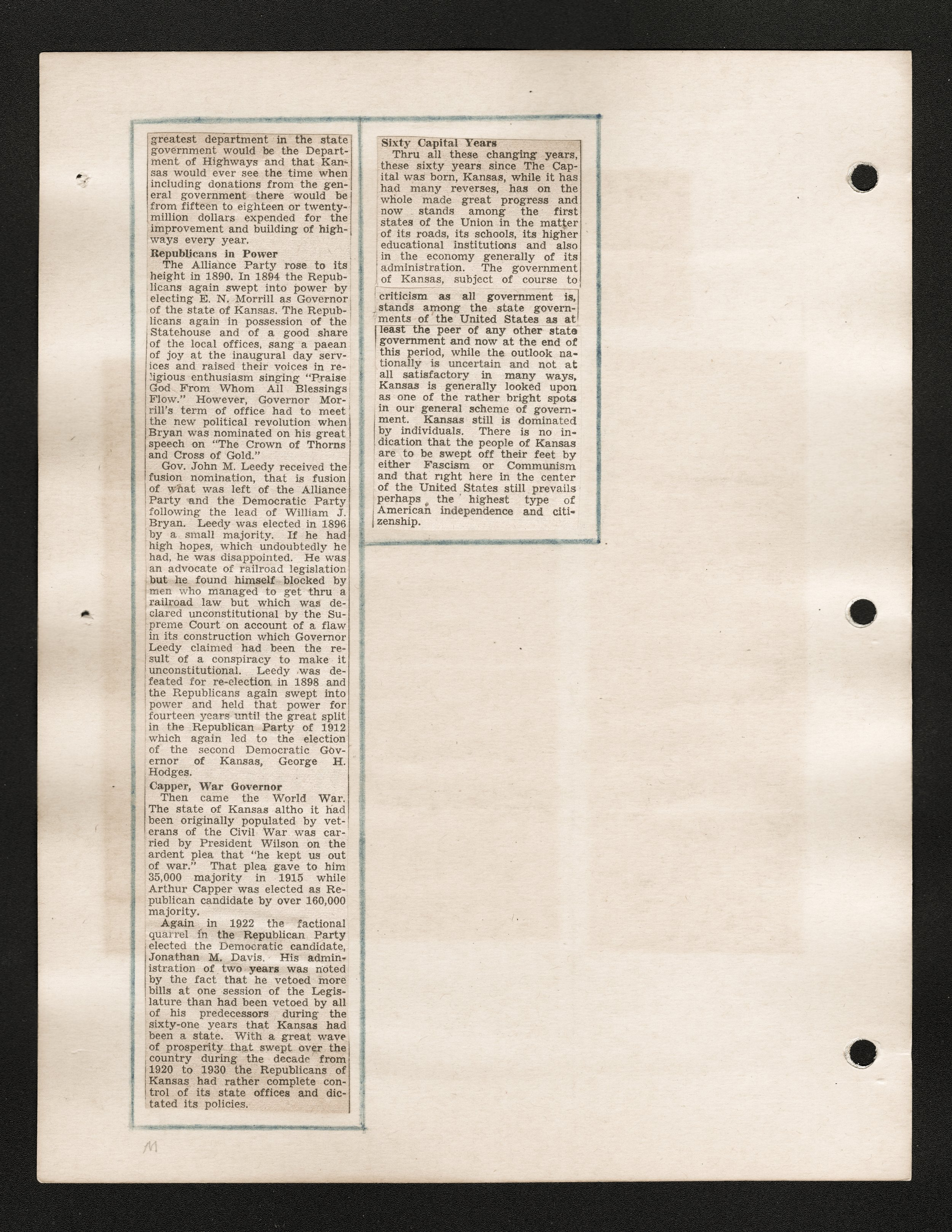 Maude Mitchell scrapbook - Newspaper clipping: