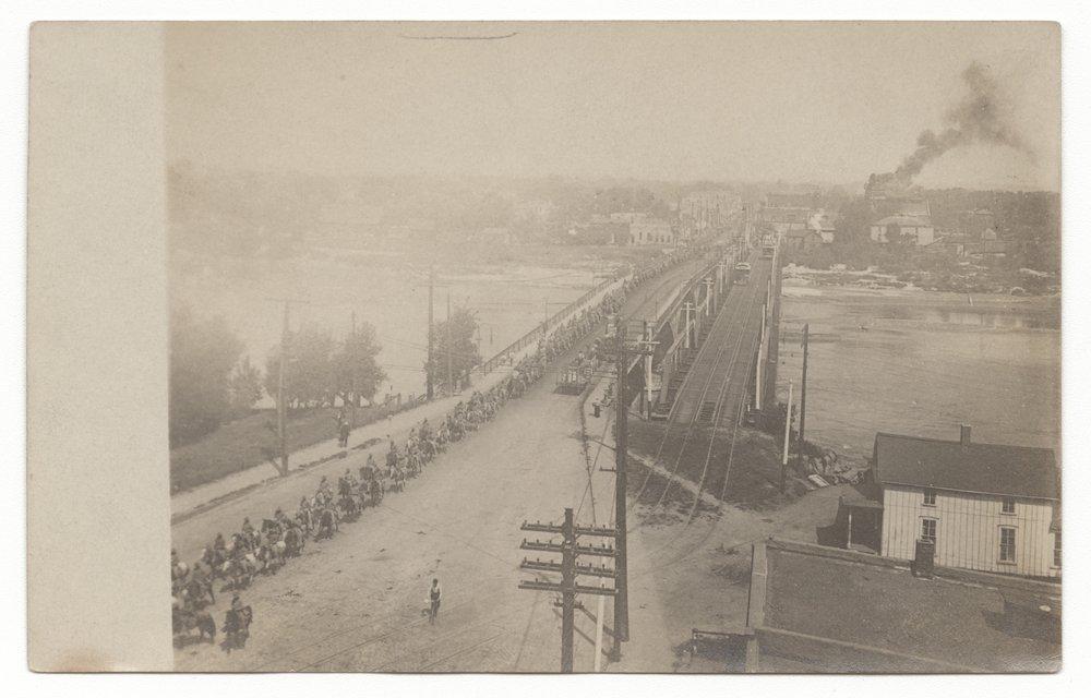 Horseback parade, Topeka, Kansas - 1