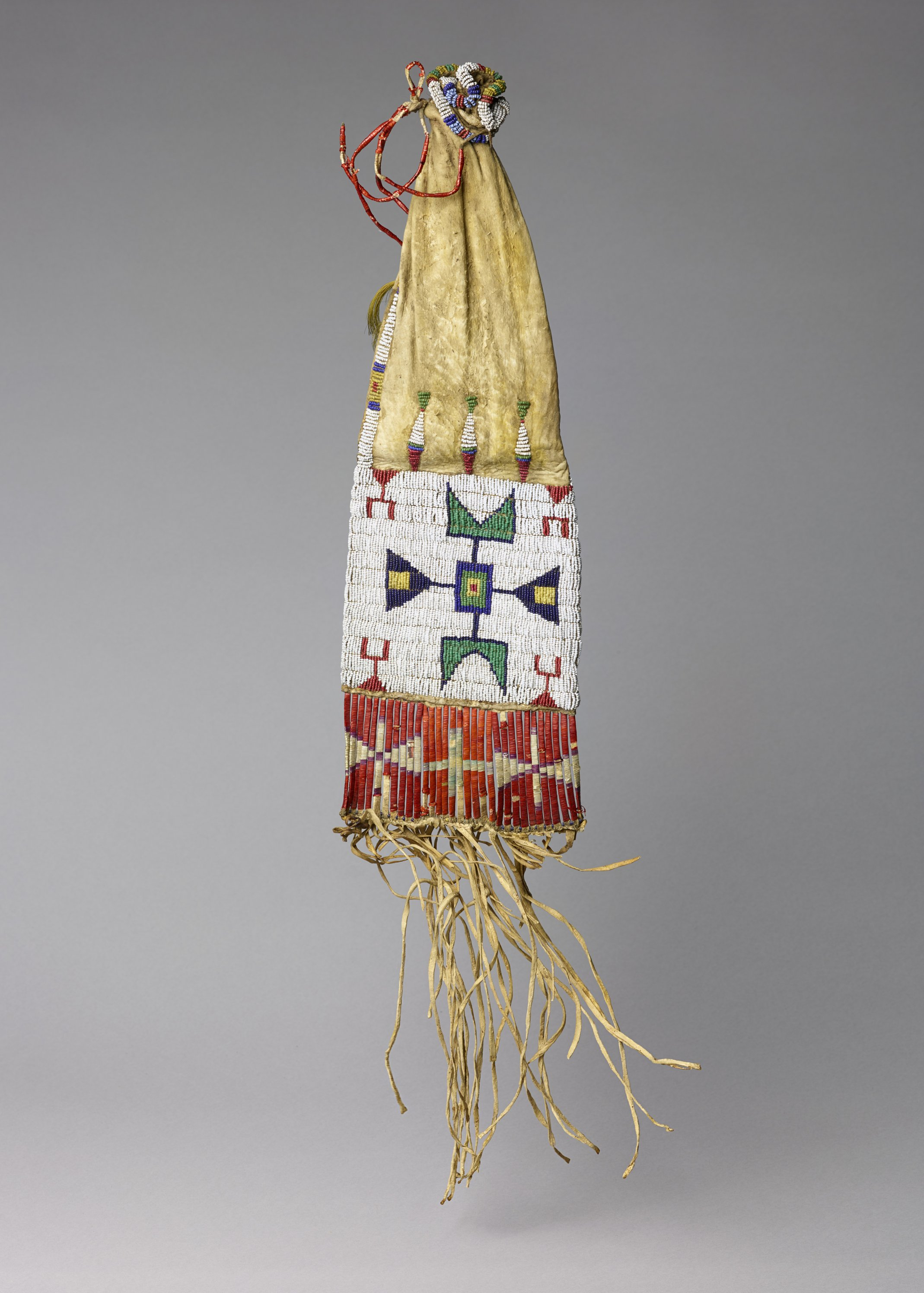 Beaded and Quill Worked Pipe Bag - 1