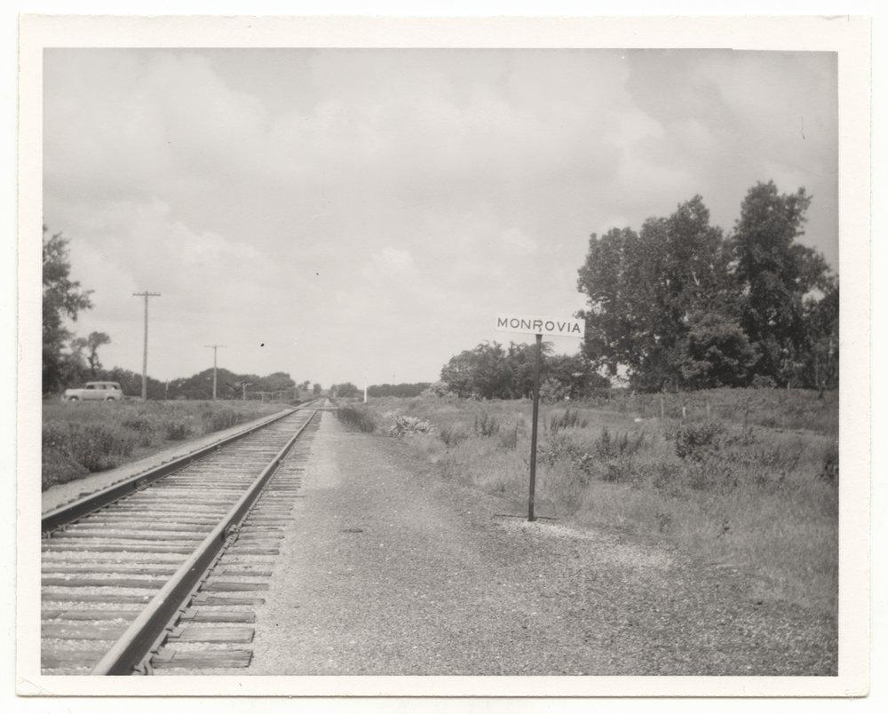 Missouri Pacific Railroad Company's sign board, Monrovia, Kansas - 1