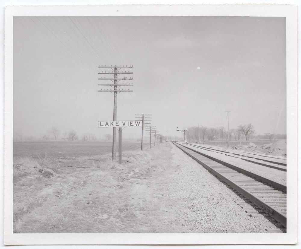 Atchison, Topeka and Santa Fe Railway Company sign board, Lakeview, Kansas - 1