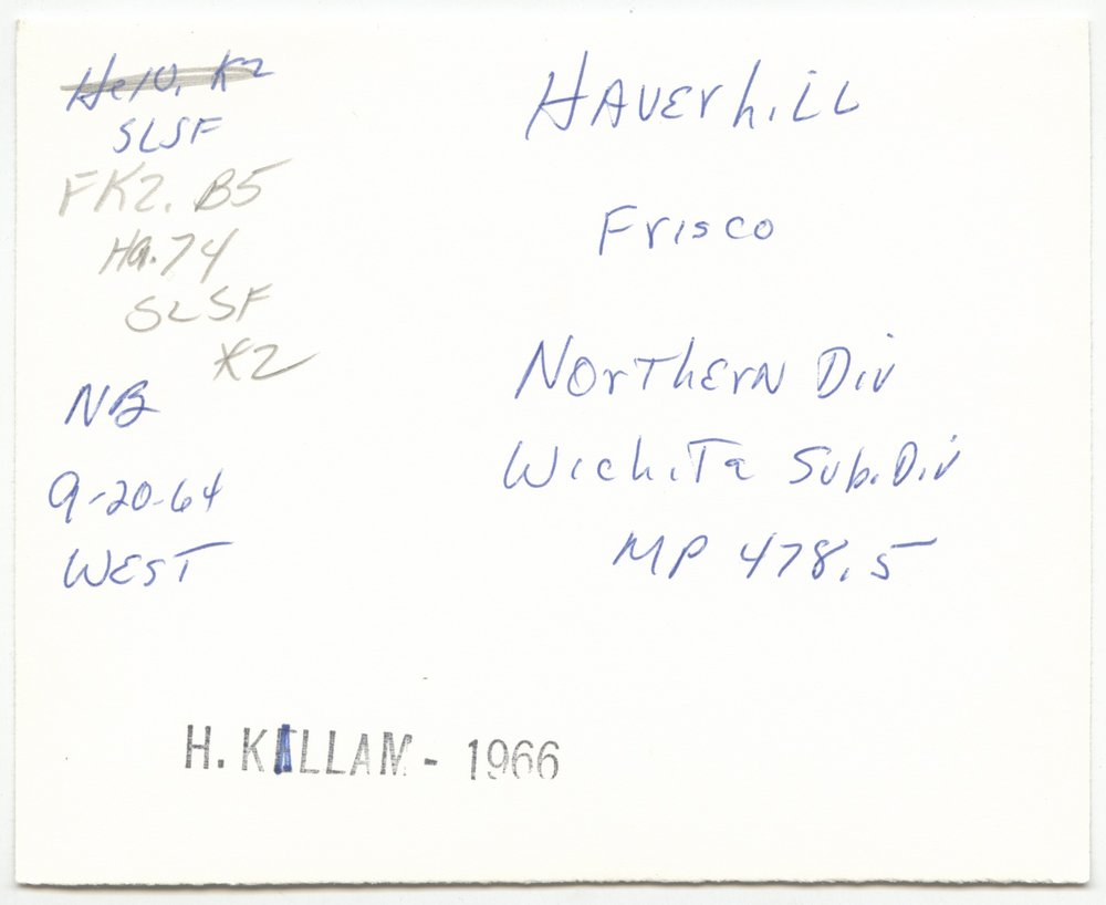 St. Louis and San Francisco Railway sign board, Haverhill, Kansas - 2