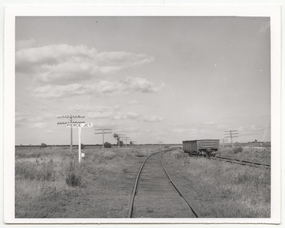 Chicago, Rock Island & Pacific Railroad & Missouri Pacific Railroad sign board, Pierce Junction, Kansas - 1